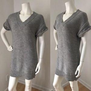 BNWT J CREW Grey Sweater Dress LARGE